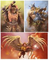 El Angel and Warriors by elshazam