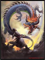 El Samurai Dragon Color by elshazam