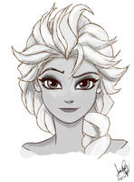 Queen Elsa by FullHimitsu