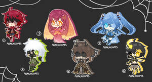 Halloween Adopts 342-347 Auction OPEN! by Alpacadopts