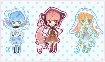 Cute Hoodie Adopts CLOSED by HotaruAyanami