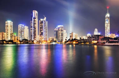 Surfers Paradise Christmas Eve by DrewHopper