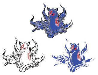 Amaterasu feral blue by amaterasuwolfy