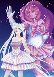SM/SU: Silver Crystal and Sailor Rose by Hybryda