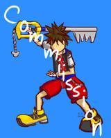 (Commission) Sora Kingdom Hearts by JustJamieK