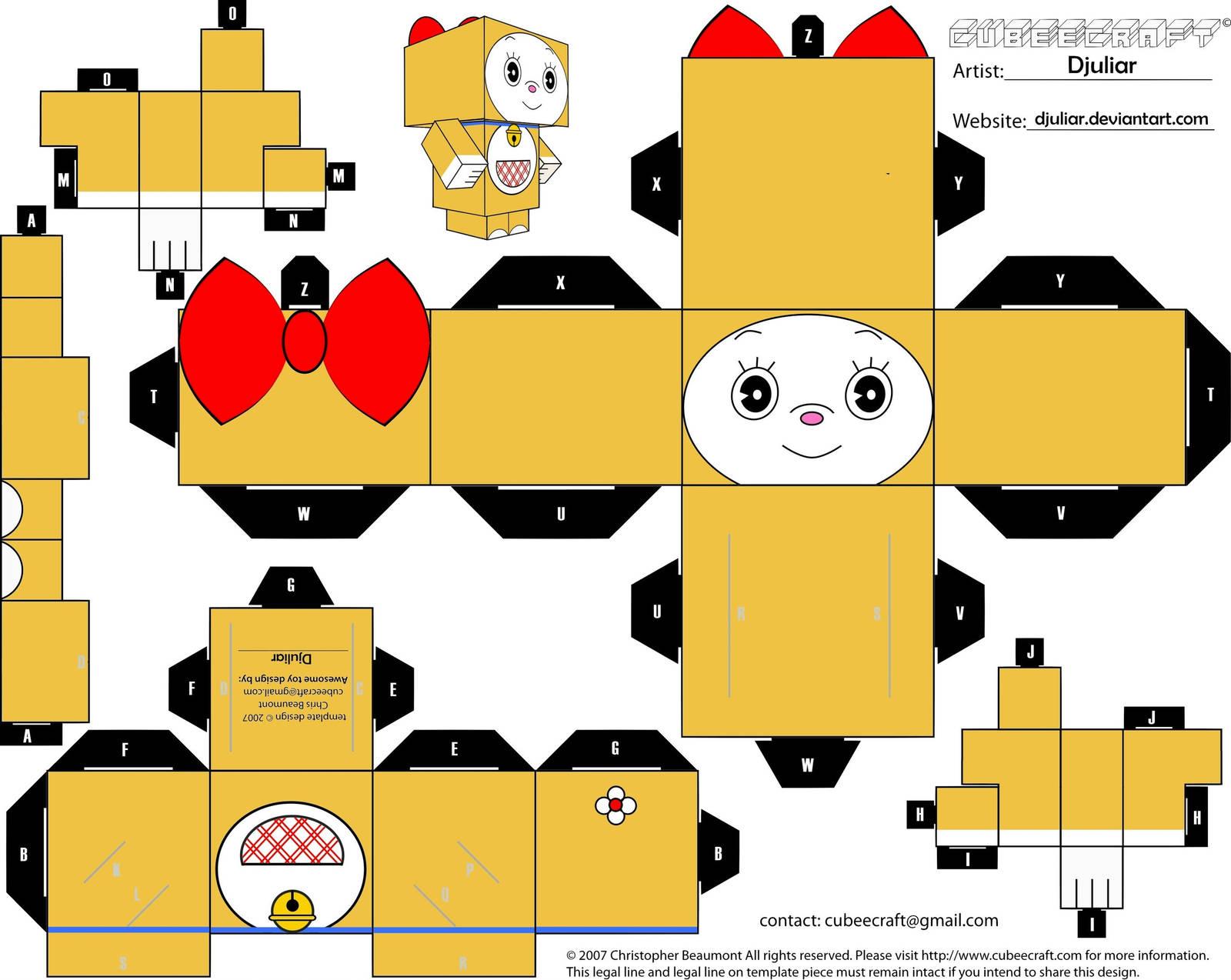Cubeecraft Dorami By Djuliar by Djuliar