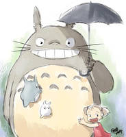 My Neighbour Totoro 'Rough' by gndagnor