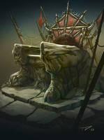 Goblin throne by PrincepsSenatus