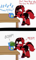 Meep Goes the Crimson (belated birthday fanart) by Ripple-Effect-MLP