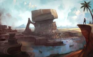 Oasis City:  Dark and Days by Roboto-kun