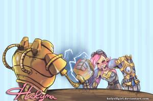Vi vs Blitzcrank by HolyElfGirl