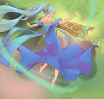 Ethereal Sona [Commission] by HolyElfGirl