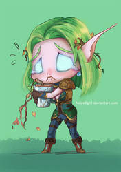 Night elf commission 3 by HolyElfGirl