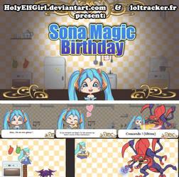 Sona magic birthday  VIDEOGAME by HolyElfGirl