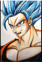 Goku SSJ Blue by Jai-artes