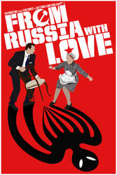 FROM RUSSIA WITH LOVE Minimalist Poster by BradyMajor