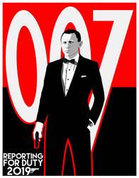 Daniel Craig Will Return Poster Variant #2 by BradyMajor