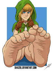 Linkle's toes [Commission] by Shazzul