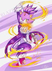 Blaze-Fire Dancer by IndI-Art