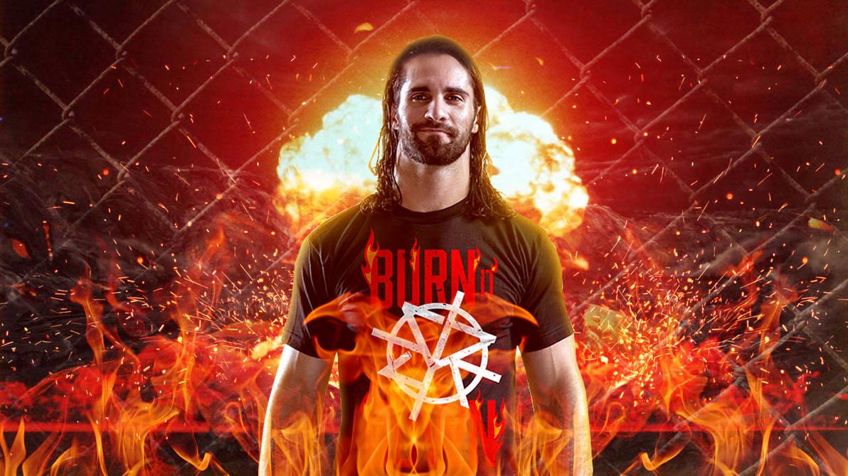 Seth Rollins Burn It Down Custom Wallpaper By Theheelshow On Deviantart