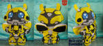 TF: Bumblebee (Movieverse) Plushie by CinnaMonroe