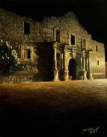 Nightfall at the Alamo by jmstudios