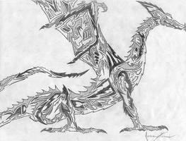 strange dragon by dragonmage