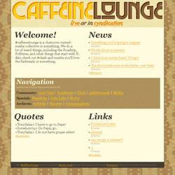 CAFFEINELOUNGE.NET 2009 MOCKUP by caffeinelounge