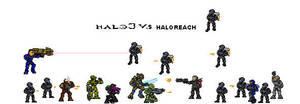 Halo 3 vs Halo Reach by MetroRuBiK