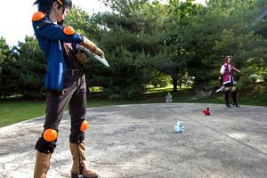 YuseiAki: Epic battle by Malindachan