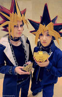 Yami and Yugi: Two halves of the same coin by Malindachan