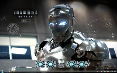 Iron Man Silver Desk by thomas192