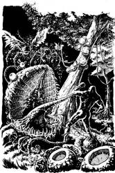 Swamp Thing Inks by bonvillain