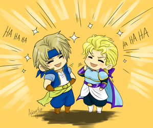 World of Final Fantasy - Locke and Edgar by Kawaii-Ash