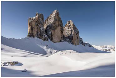 Ski touring around the Tre Cime by JamesRushforth