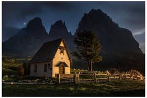 Late evening at Sassolungo by JamesRushforth