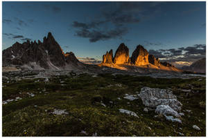 Last light at the Tre Cime di Lavaredo by JamesRushforth