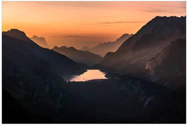 Sunrise over Lago Fedaia by JamesRushforth