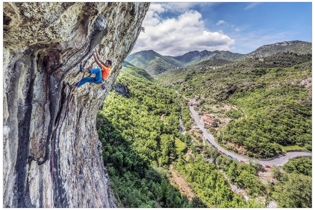 Climbing Vulneraria at Erboristeria Alta in Finale by JamesRushforth