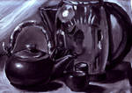 Reflected Teapot 9-28-10 by Snowy-Dragoness