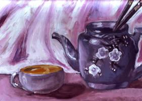 Glazed in Purple Teapot by Snowy-Dragoness