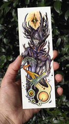 Colorful humanoid alien bookmark by Kaos-Nest
