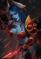 Queen of Pain (DOTA 2) by Tra-la-laaa
