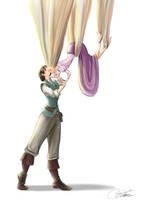 Rapunzel and Eugene by SilverCatseyes
