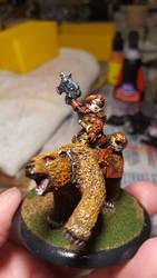 Dwarf Bear Cavalry Captain by RBL-M1A2Tanker