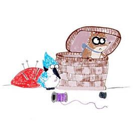Surprise in basket by JohanaBlackMoon