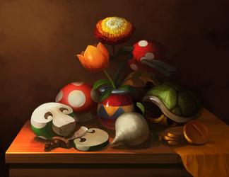 Mario Still Life by Photia