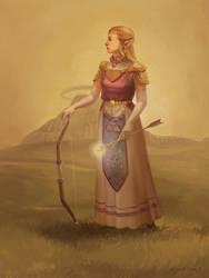 Princess Zelda Portrait by Photia