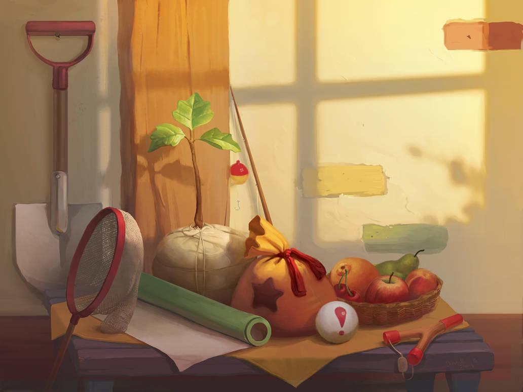 Animal Crossing Still Life by Photia