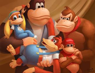 Donkey Kong Family by Photia